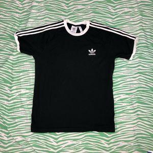 Adidas black and white T-shirt Large
